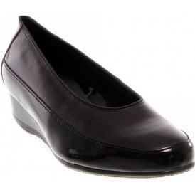 45030-16 Black Patent Wedge Shoe