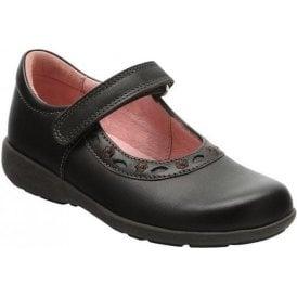 Scissors Brown Leather Girl's Shoe
