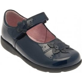 Violet Navy Patent Girl's Shoe