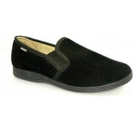 Humber Black Cord Full Slipper