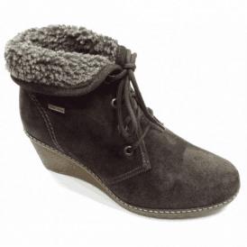 Batsford Brown Suede Ladies Waterproof Wedge Boot
