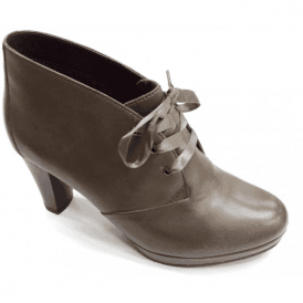 Alice 01 Taupe Leather Ankle Boot