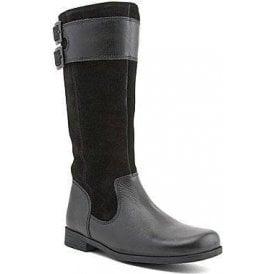 Turmoil Black / Suede Leather Girls Boot