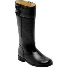 Turmoil Black Leather Girls Boot
