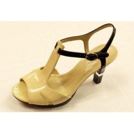 Montee Ivory / Black Nude Patent  Sandal
