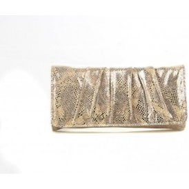 Aloe Metallic Snake Print Handbag