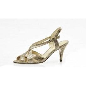 Rushall Metallic Snake Print Sandal