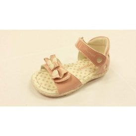 Stacie Pink Patent Girl's Velcro Sandal