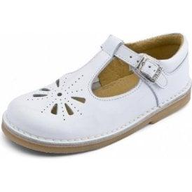 Tea Party Girl's White Patent Sandal