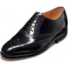 Albert Black Hi-Shine Leather Lace Up Brogue Shoe