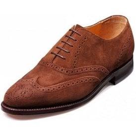 Albert Castagnia Suede Lace Up Brogue Shoe