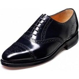Alfred Black Hi-Shine Leather Lace Up Brogue Shoe