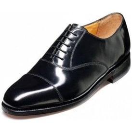Arnold Black Hi-Shine Leather Lace Up Shoe