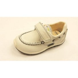 B Shaax B. D White Leather Velcro Boys Shoe