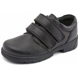 Rotate Black Leather Velcro Boys Shoe