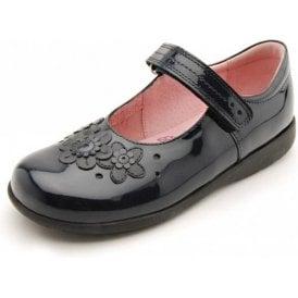 Fleur Navy Patent Girl's Shoe