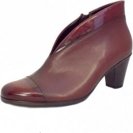 Enfield 75.616.95 Dark Red Patent / Leather Ankle Boot