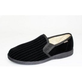 Calder Black Two Tone Full Slipper