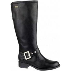 Ullenwood Black Leather Ladies Waterproof Boot