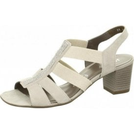54679-06 Light Grey Sandal with Diamonte Trim