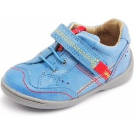 SR Super Soft Sam Bright Blue Leather Boys Shoe