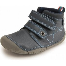 Noah Navy Leather Boys First Shoe