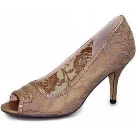 Alayna FLR308 Taupe Mesh Shoe with Print