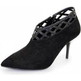 Polka FLR321 Black Trouser Shoe with Diamantes