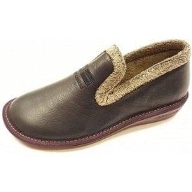 305 Ohio Navy Leather Ladies Slipper
