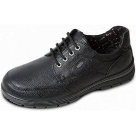 Terrain Black Leather Waterproof Lace Shoe