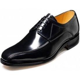 Newbury Black Hi-Shine Leather Lace Up Shoe