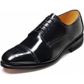 Perth Black Hi Shine Leather Lace Up Derby Shoe