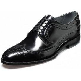 Woodbridge Black Polished Leather Lace Up Brogue Shoe