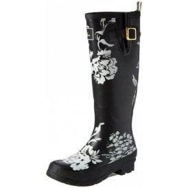 Black Floral Wellyprint Wellington Boot