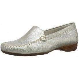 Sanson Metallic Leather Loafer Moccasin Shoe