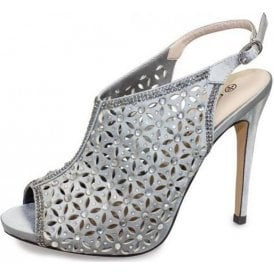 Bethany FLR343 Silver Sandal with Diamontes