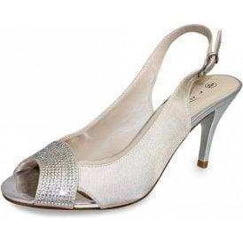 Pippa JLH773 Beige Sling Back Peep Toe Sandal