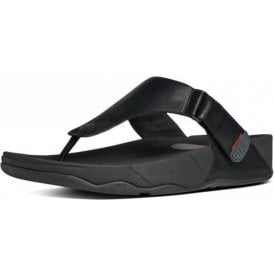 Trakk II Black Leather Sandal