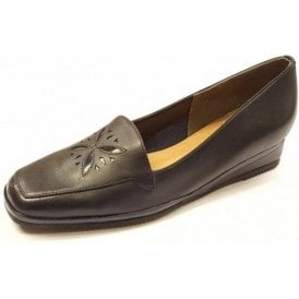 Verona IV Marine Navy / Patent Wedge Shoe