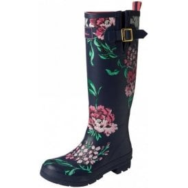 Navy Floral Wellyprint Wellington Boot