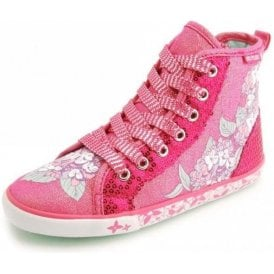 Summer Harmony Girl's Pink Sparkle Canvas Shoe Boot