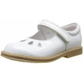 Tamara White Patent Velcro Girls Shoe