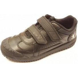 Cup Final Black Leather Boys Shoe