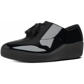 Classic Tassel Superoxford Ladies Black Patent Shoe