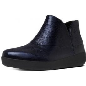 Supermod Inky Blue Patent Ankle Boot