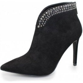 Molly FLR366 Black Ladies Ankle Boot