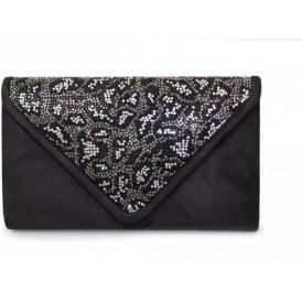 Jaime ZLR376 Black / Silver Diamonte Handbag