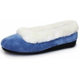 Bess KLY006 Blue Fur Full Slipper