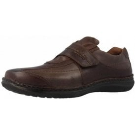 Alec Moro Brown Leather Velcro Shoe