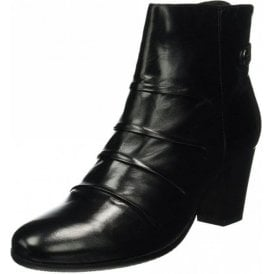 Villa 04 Black Leather Ankle Boot